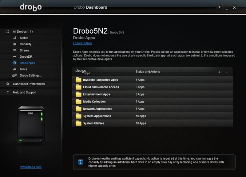 Drobo 5N2 Dashboard 7