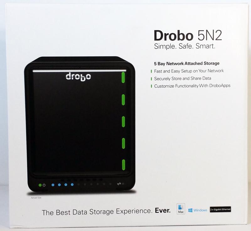 Drobo 5N2 Retail Box Front