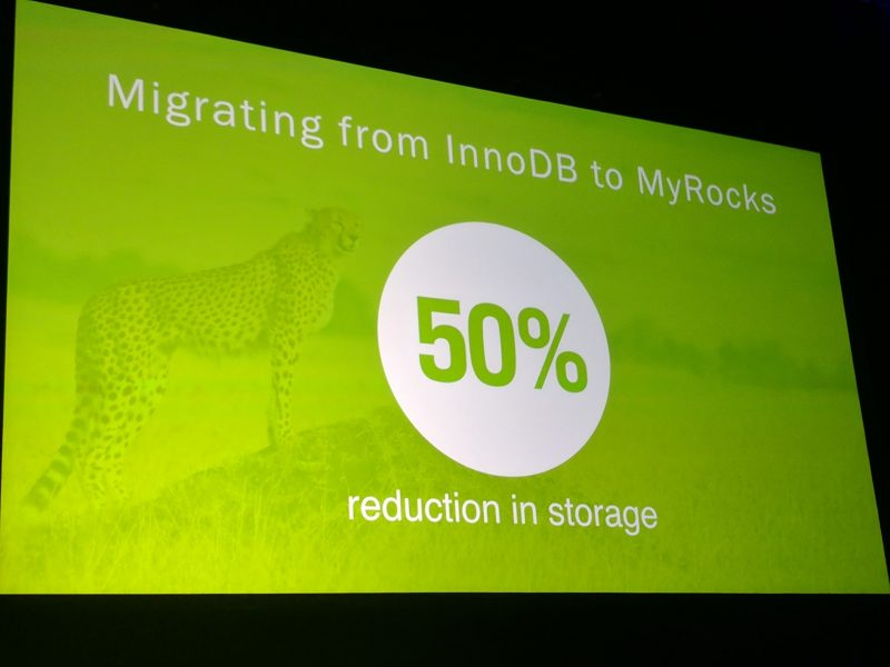 Facebook OCP Summit 2017 MyRocks Storage Reduction