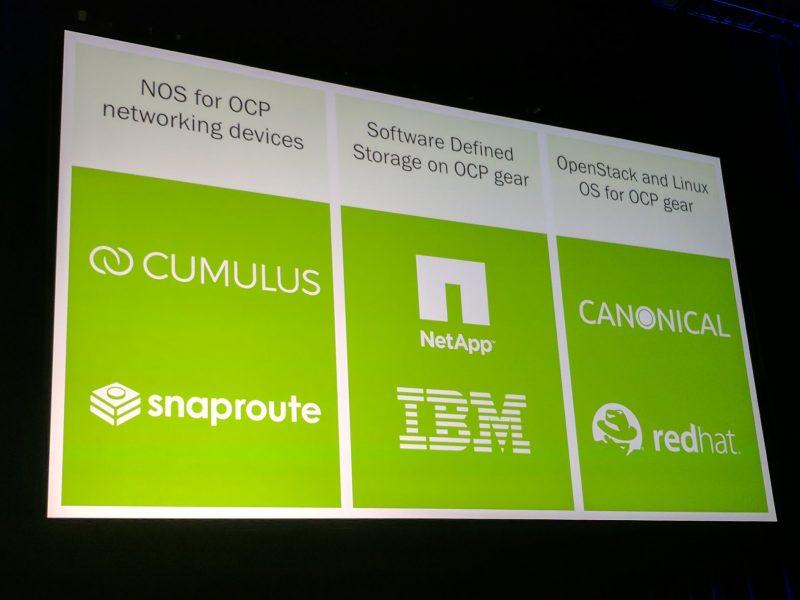 Facebook OCP Summit 2017 Software Vendors