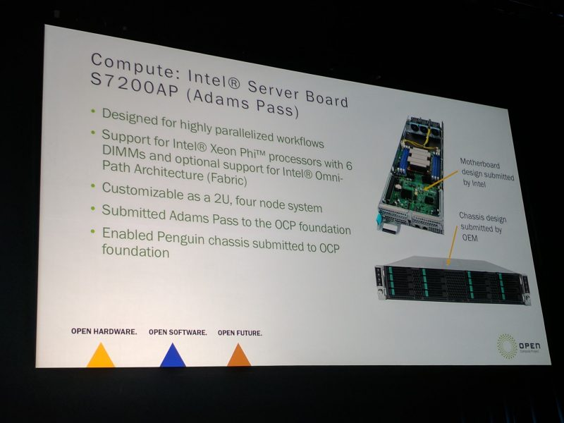 Intel At OCP Summit 2017 Adams Pass Xeon Phi OCP Platform