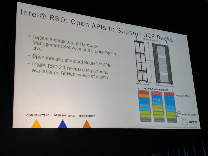 Intel At OCP Summit 2017 Intel RSD Racks