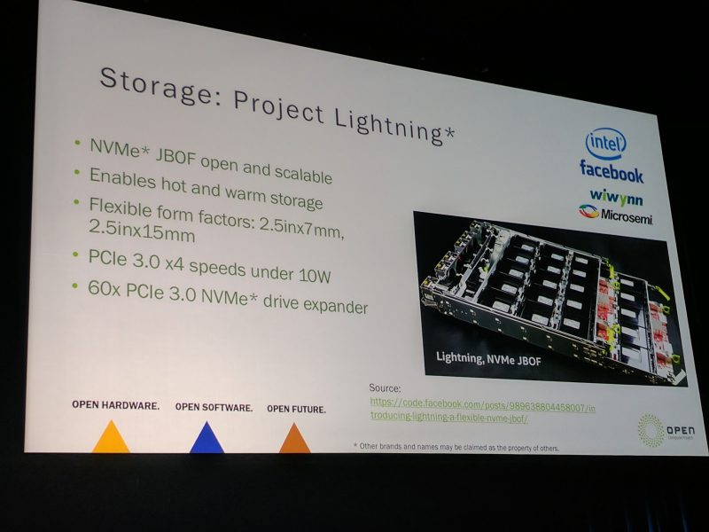 Intel At OCP Summit 2017 Project Lightning