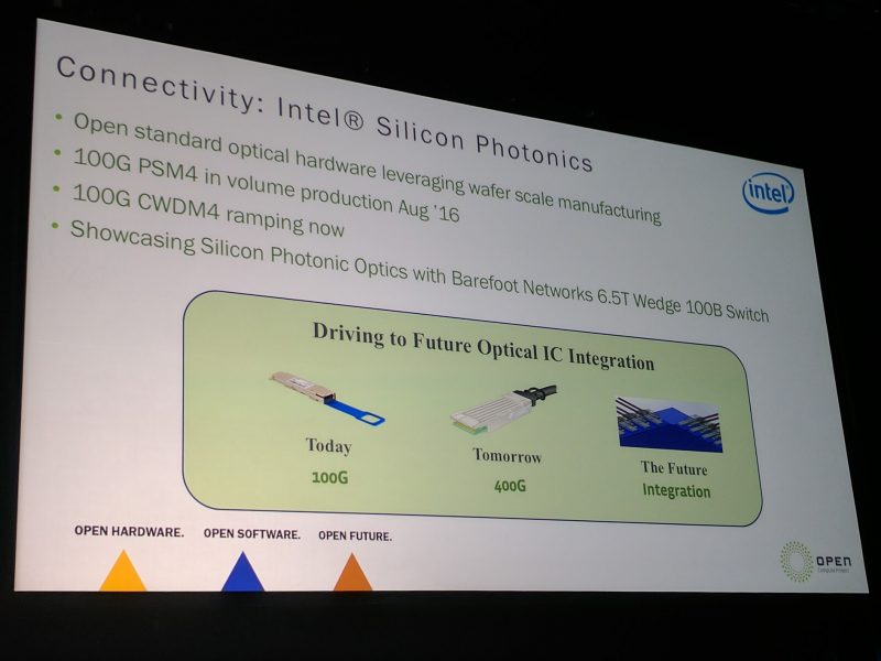 Intel At OCP Summit 2017 Silicon Photonics