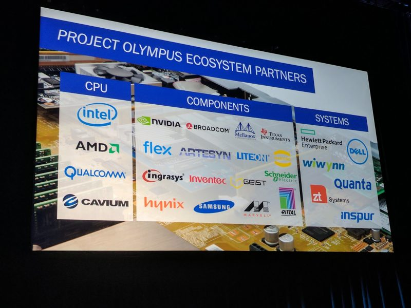 Microsoft OCP Summit Project Olympus Vendors