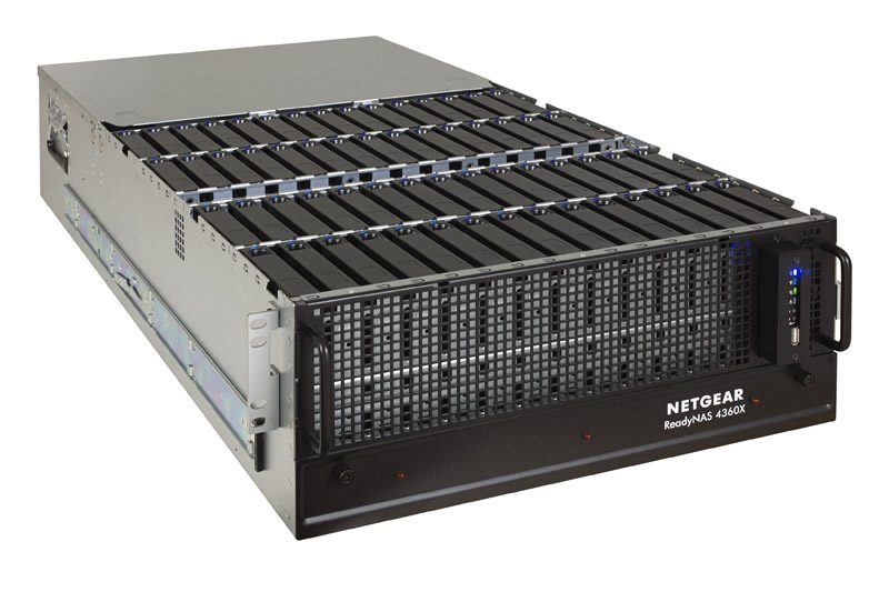 Netgear ReadyNAS RR4360X Front Three Quarters Open