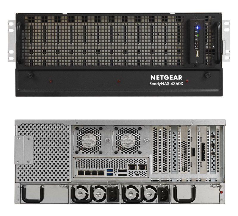 Netgear ReadyNAS RR4360X Front And Rear
