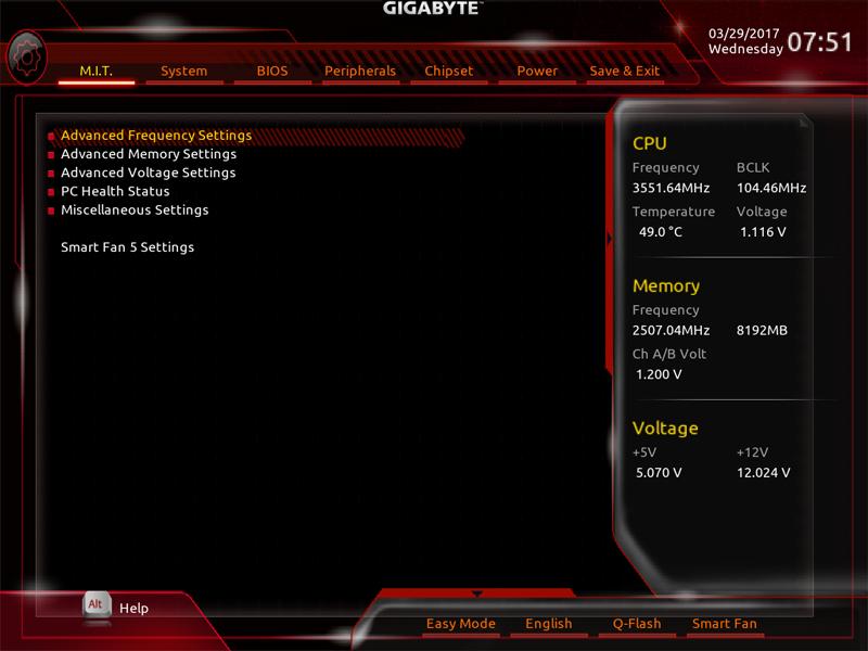 Gigabyte AB350M Gaming 3 BIOS 1