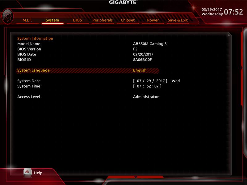 Gigabyte AB350M Gaming 3 BIOS 4