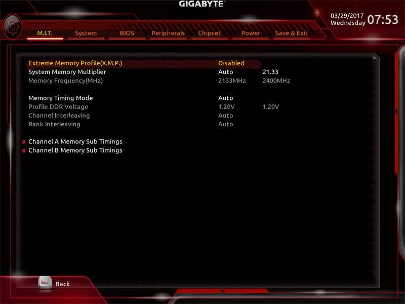 Gigabyte AB350M Gaming 3 BIOS 9