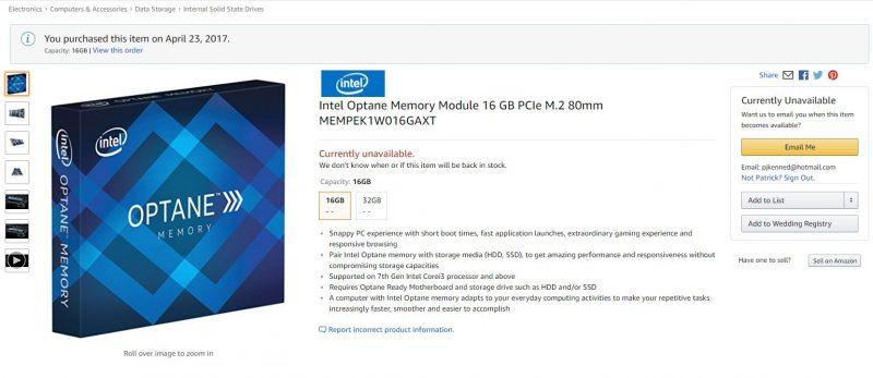 Intel Optane Memory Amazon