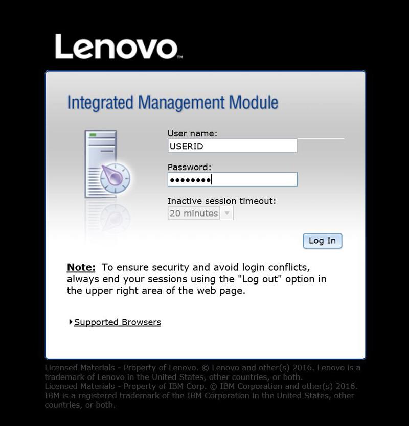 Lenovo X3500 M5 5464EEU IMM 1