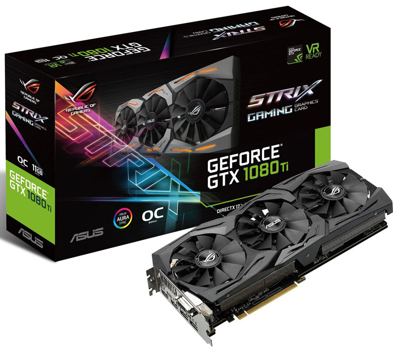 ASUS ROG STRIX GeForce GTX 1080 TI OC Art