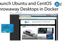 Docker Ubuntu And CentOS Desktops Using NoVNC Title