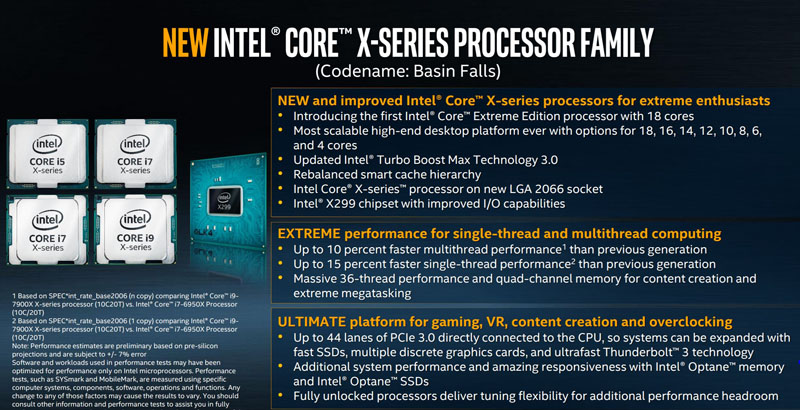 Intel Core X Series Overview