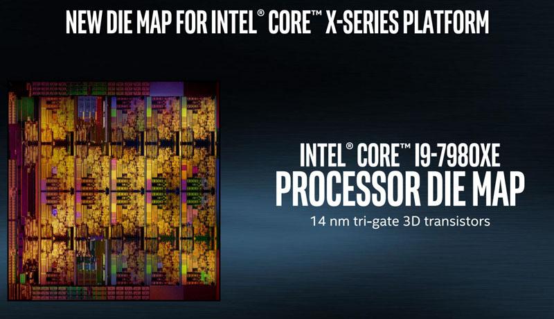 Intel Core I9 7980XE Die