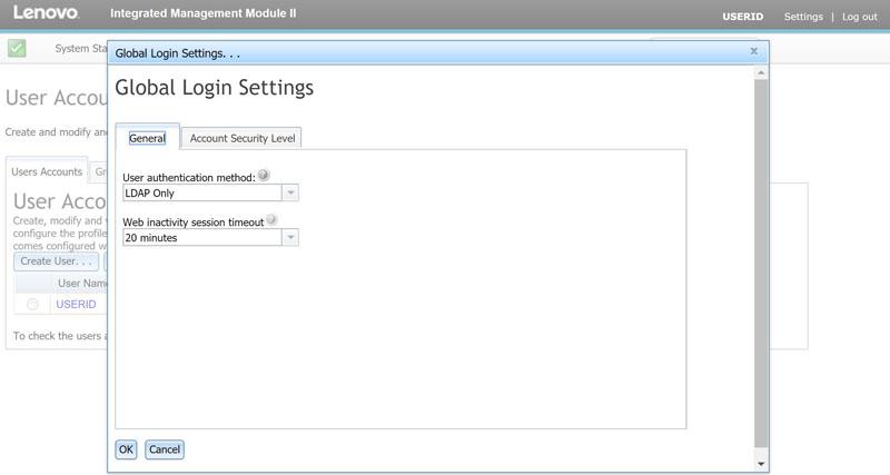 Lenovo IMM II LDAP Login Integration