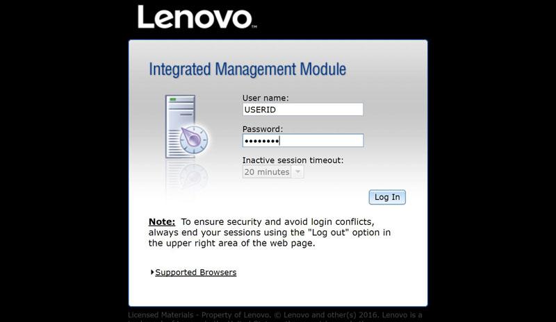 Lenovo IMM II Login