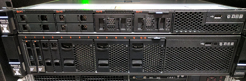 Lenovo Servers In Lab Rack