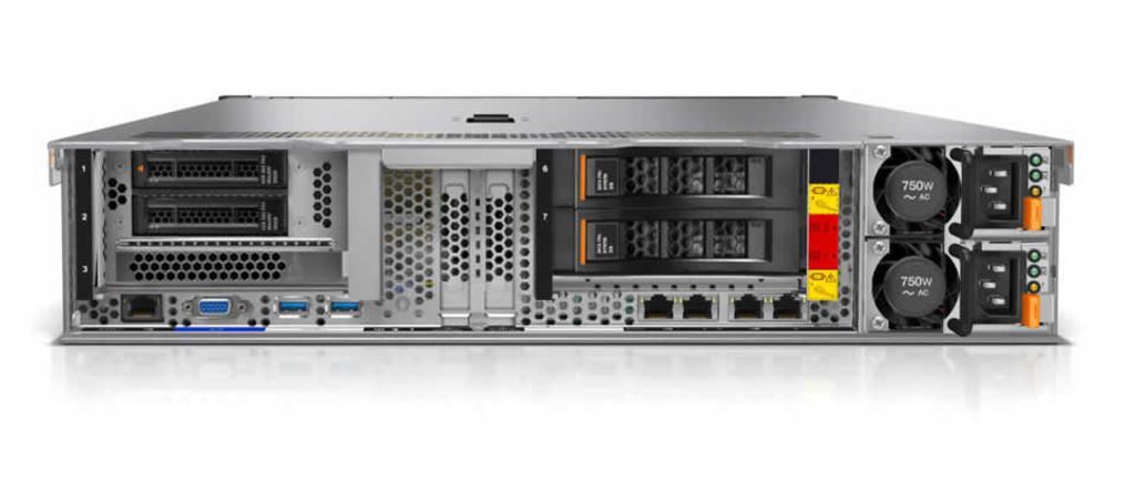 Lenovo System X3650 Rear IO Storage Options