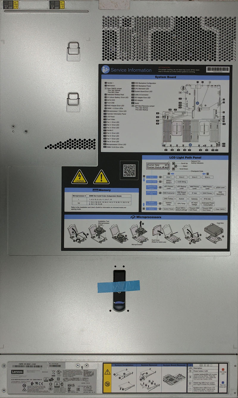 Lenovo X3550 M5 1U Top Service
