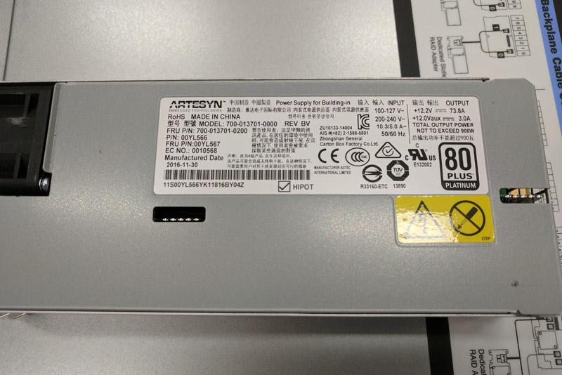Lenovo X3650 M5 80Plus Platinum PSU