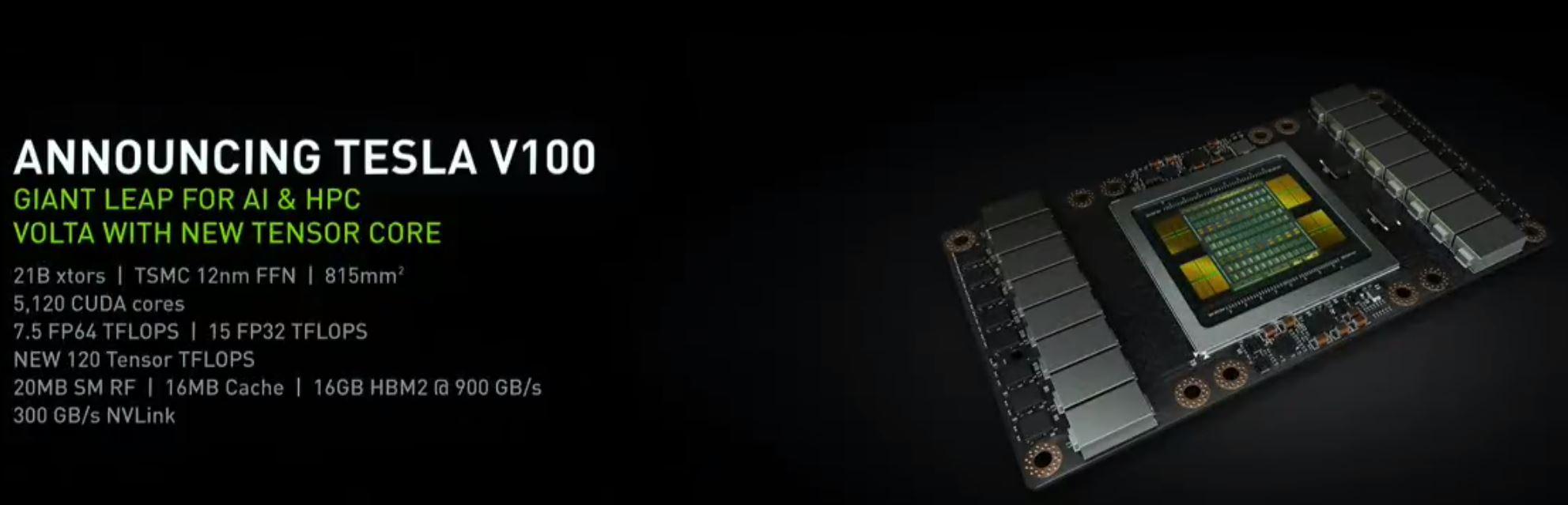 NVIDIA GTC 2017 Tesla Volta V100 12nm TSMC