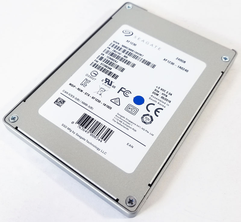 Synology DS1517+ Seagate SSD