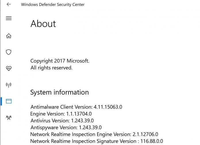 Windows Defender Malware Protection Engine