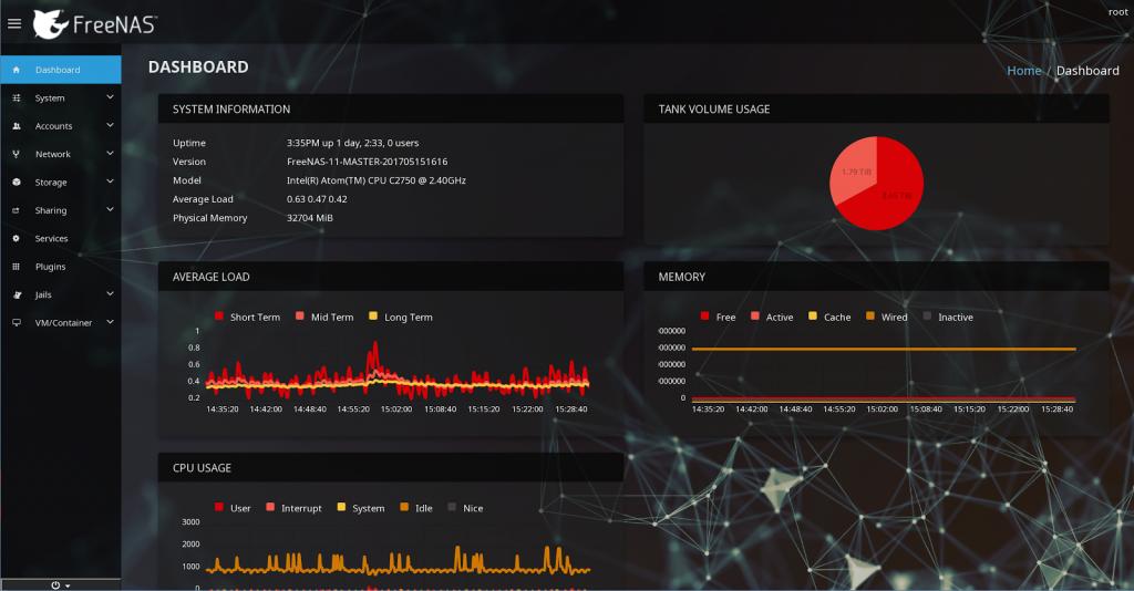 FreeNAS 11.0 UI