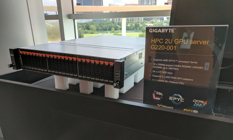 Gigabyte G220 001 At AMD EPYC Launch