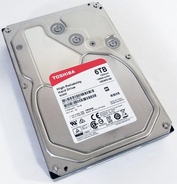 Toshiba N300 6TB NAS Top