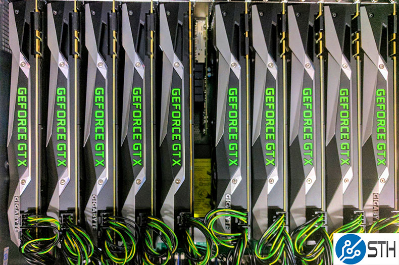 10x NVIDIA GTX 1080 TI FE Plus Mellanox Top