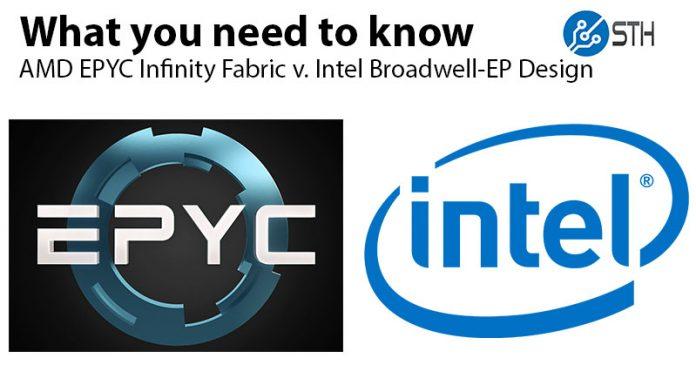 AMD EPYC Infinity Fabric V Intel Broadwell DE QPI