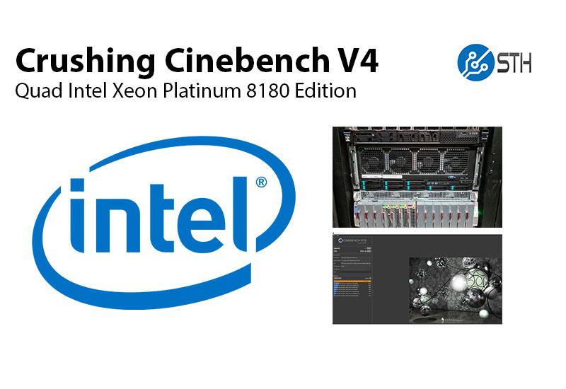 Absolutely Crushing Cinebench R15 V4 Quad Intel Xeon 8180