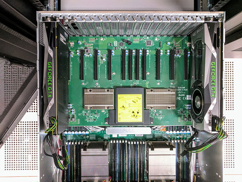 DeepLearning11: 10x NVIDIA GTX 1080 Ti Single Root Deep