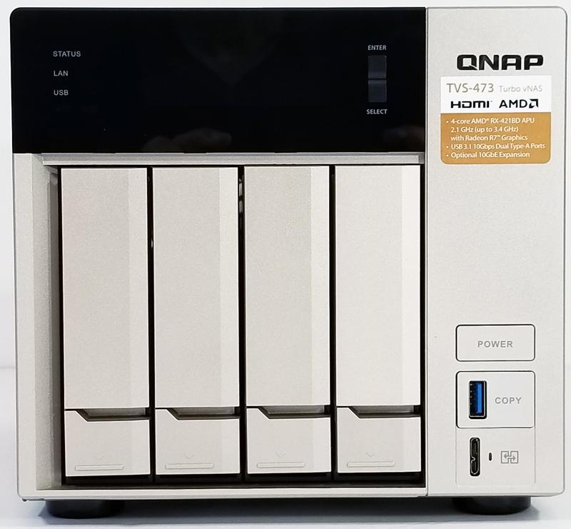QNAP TVS 473 Front