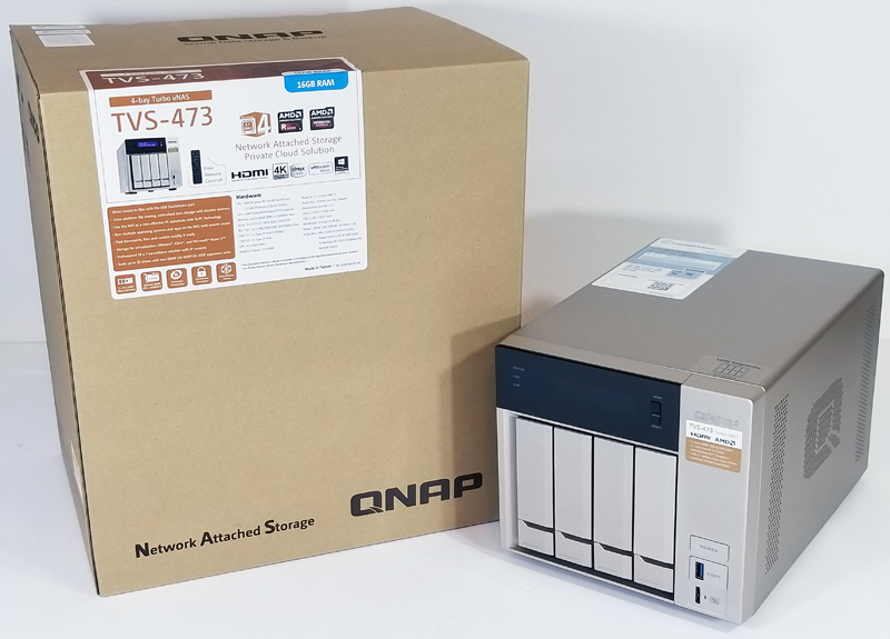QNAP TVS 473 With Shipping Box