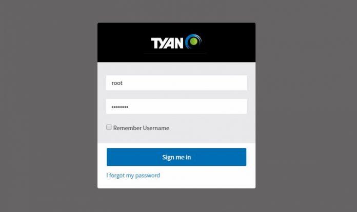 Tyan IPMI 2017 Login