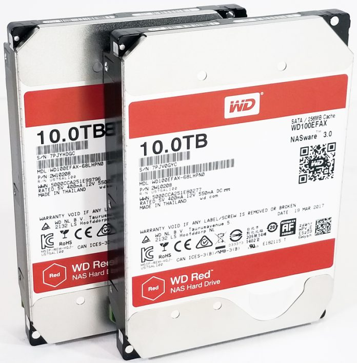 WD Red 10TB NAS Hard Drives