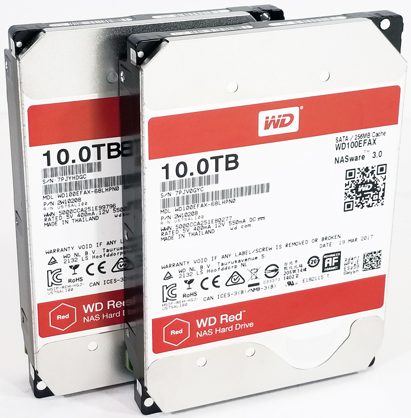 Massive 10TB Capacity with WD Red 10TB NAS Hard Drives