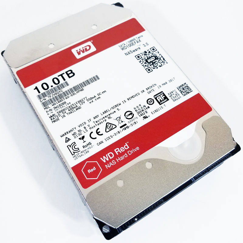 WD Red 10TB NAS Top