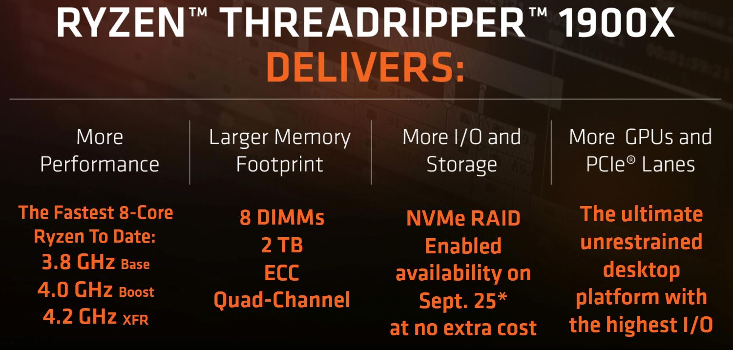 AMD Ryzen Threadripper 1900X Benefits