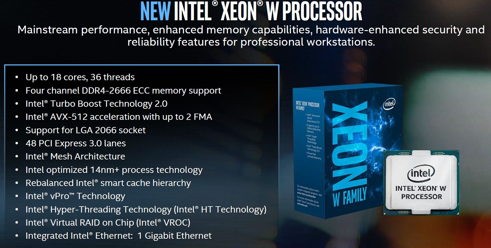 Intel Xeon W Processor Overview