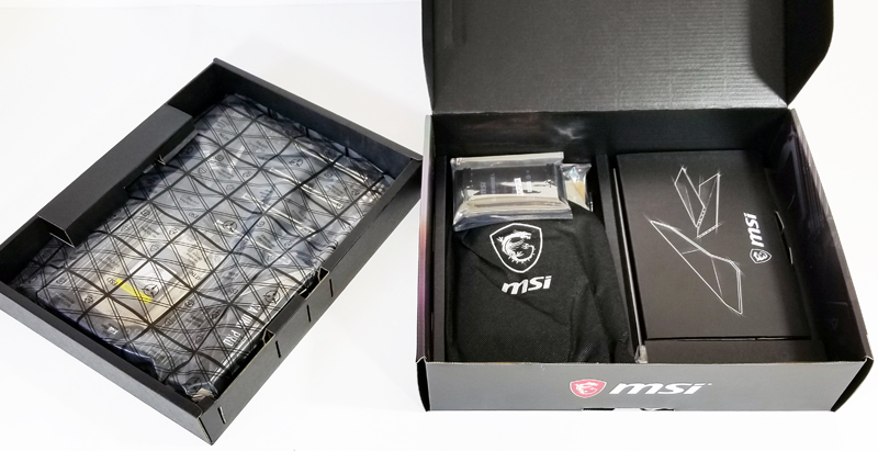 MSI X399 Gaming Pro Carbon AC Motherboard Retail Box Open