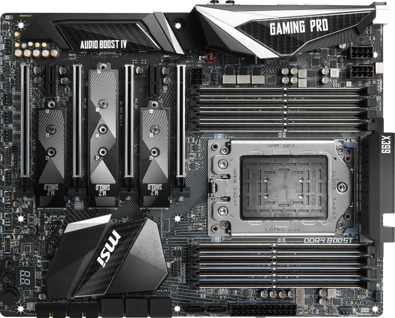 MSI X399 Gaming Pro Carbon AC Motherboard Top