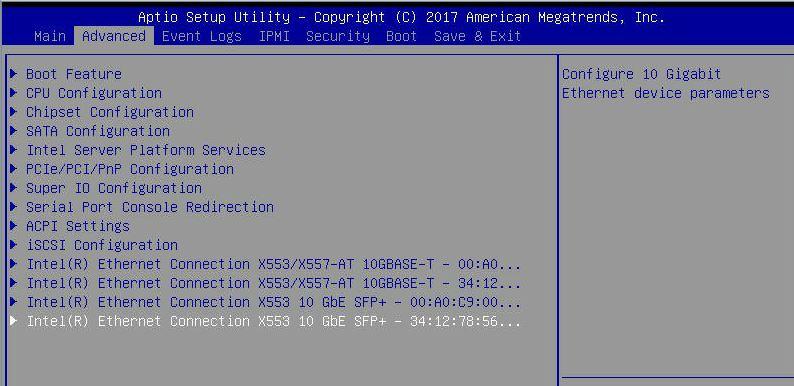 Supermicro A2SDi H TP4F BIOS 4x 10GbE