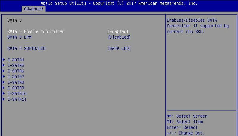 Supermicro A2SDi H TP4F BIOS SATA 0 Controller