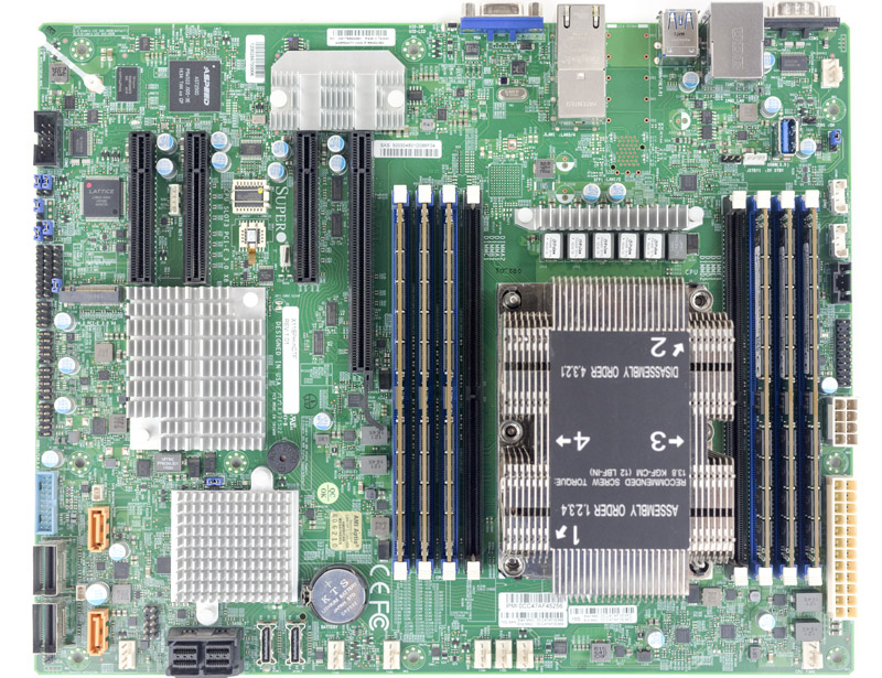 Supermicro X11SPH NCTF Overview With RAM And Heatsink