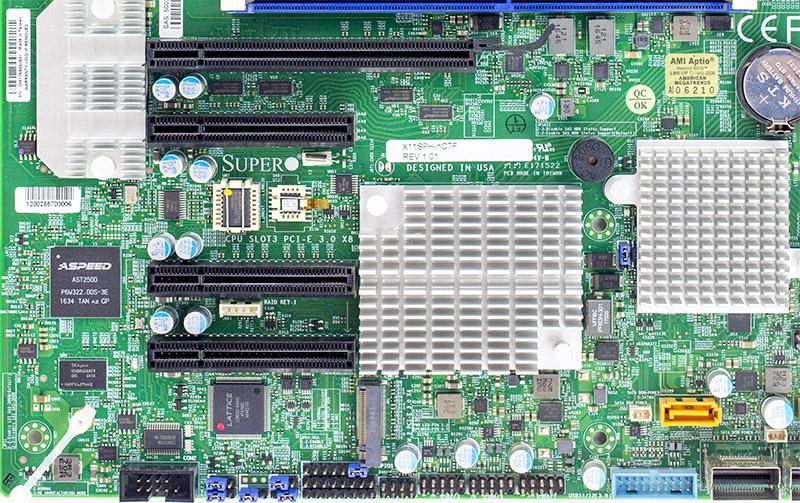 Supermicro X11SPH NCTF PCIe